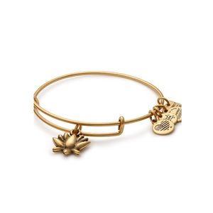 Alex & Ani Lotus Blossom Gold Charm Bangle✨